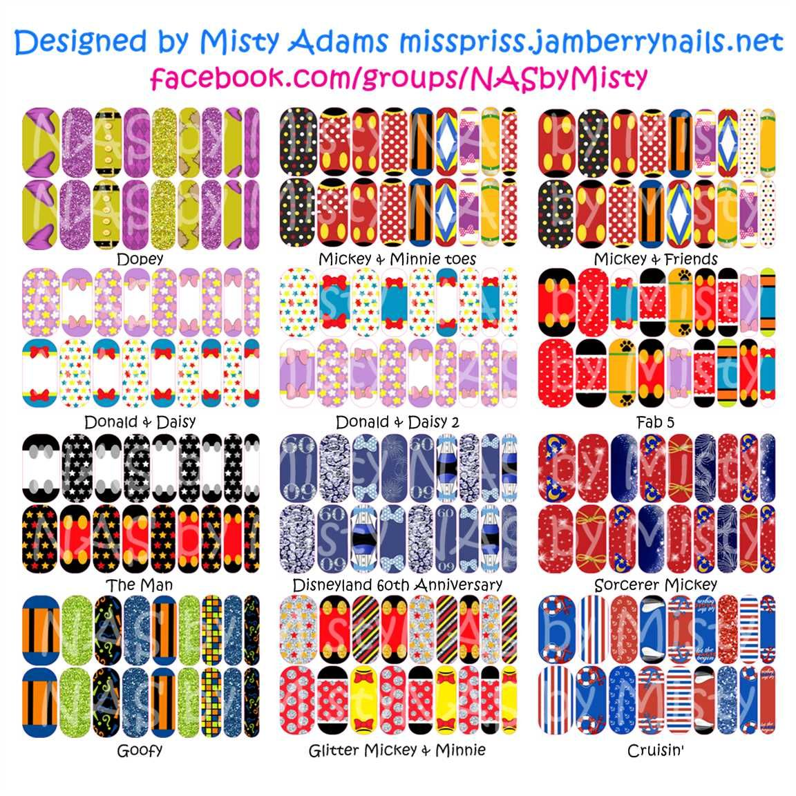 Custom Designed Disney inspired Mickey and Friends Jamberry nail ...