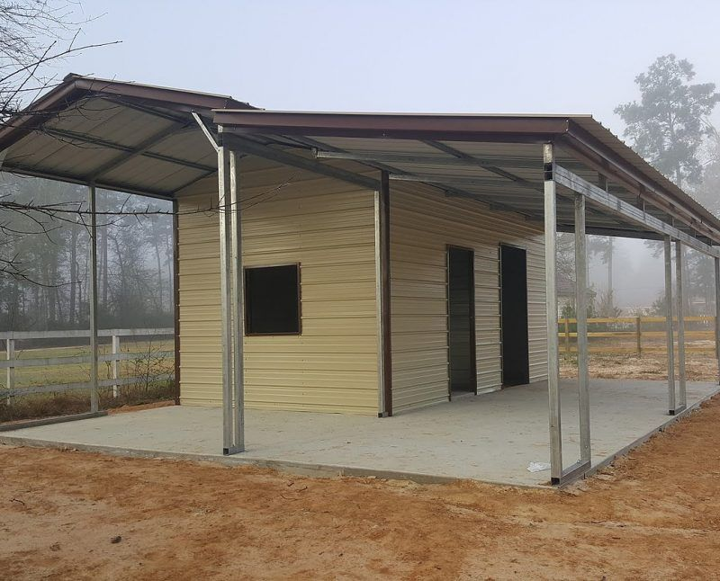 27 Partially Enclosed Carport With Lean To Elite Metal Structures Enclosed Carport Carport Pergola