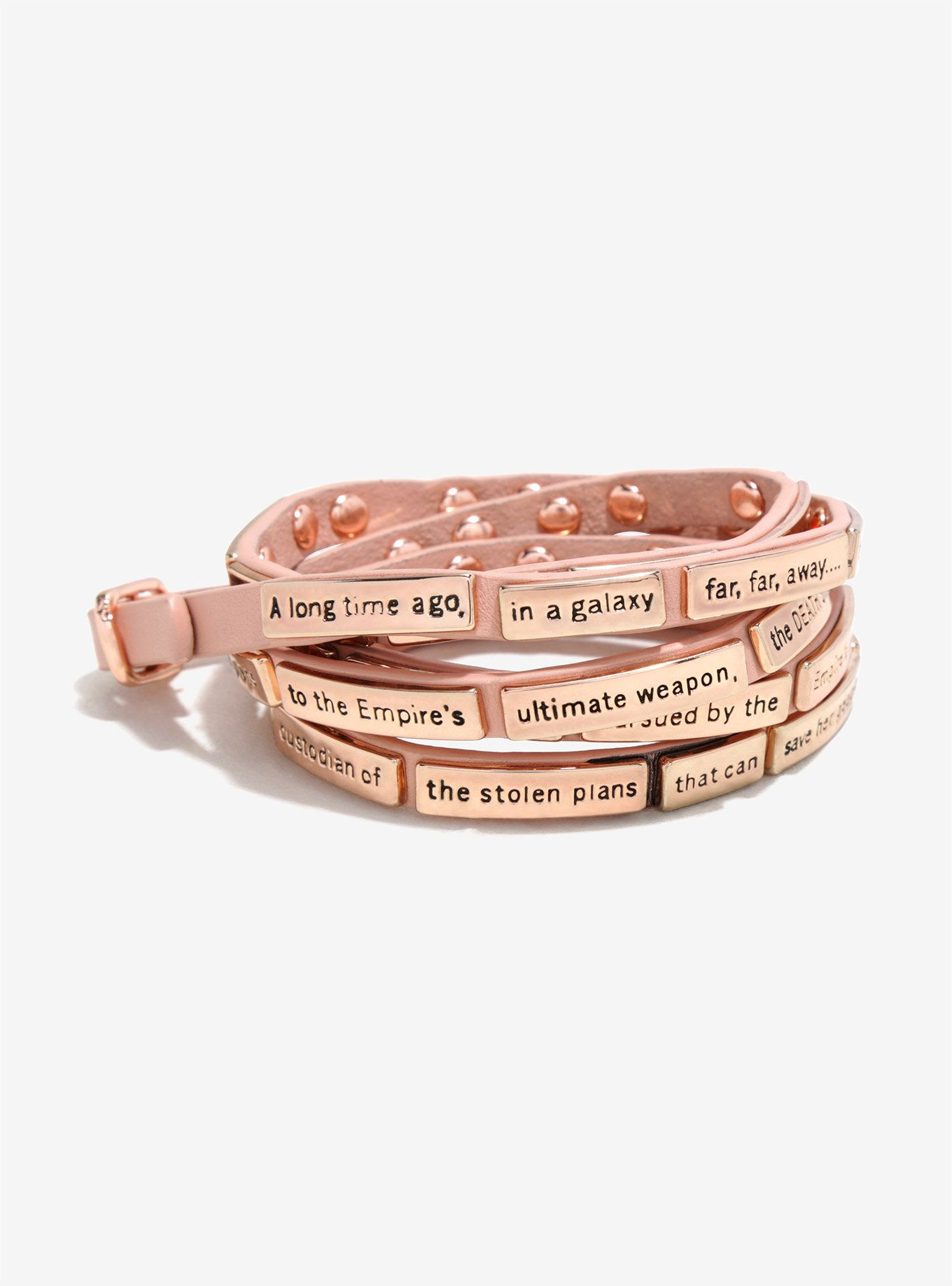 Love And Madness Star Wars A New Hope Crawl Rose Gold Leather Wrap
