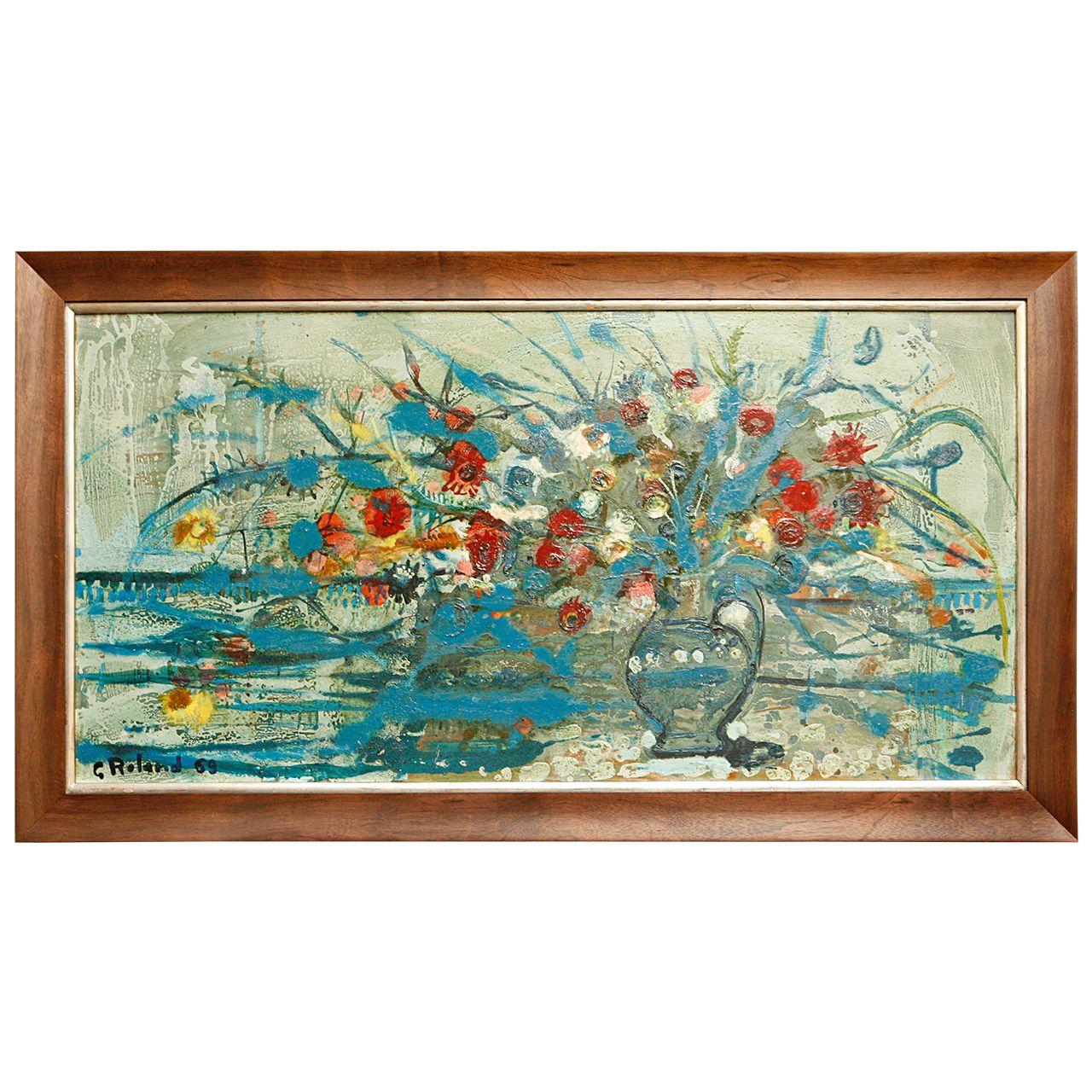 Modern Floral Still Life Painting, 1969 - http://bit.ly/1z7Q3hK