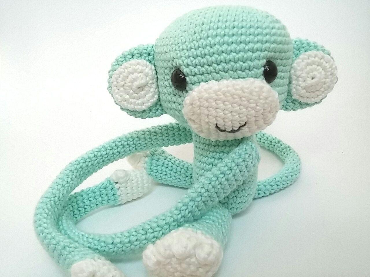 Monkey curtain tie back crochet PATTERN, tieback, left or right ... | 960x1280