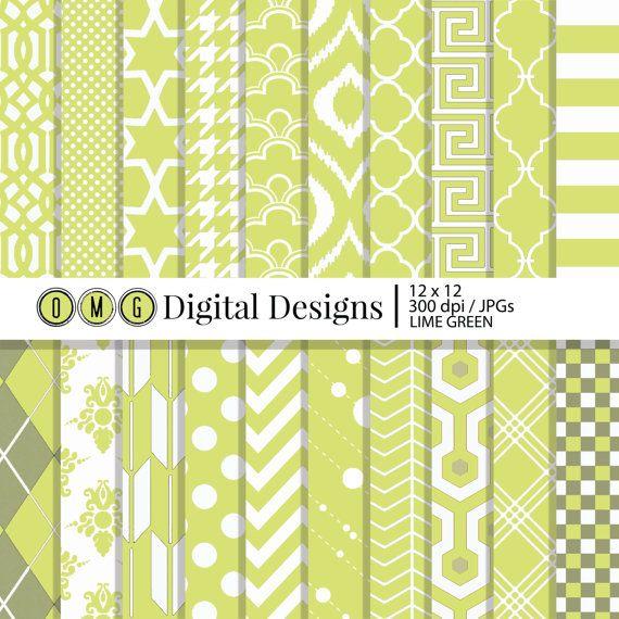 Lime Green Paper Lime Green Digital Scrapbook By Omgdigitaldesigns