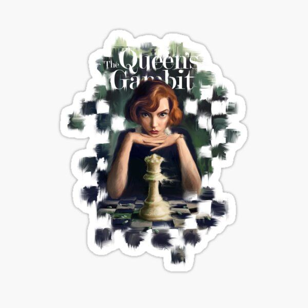 The Queen's Gambit Sticker by Anqi-Art