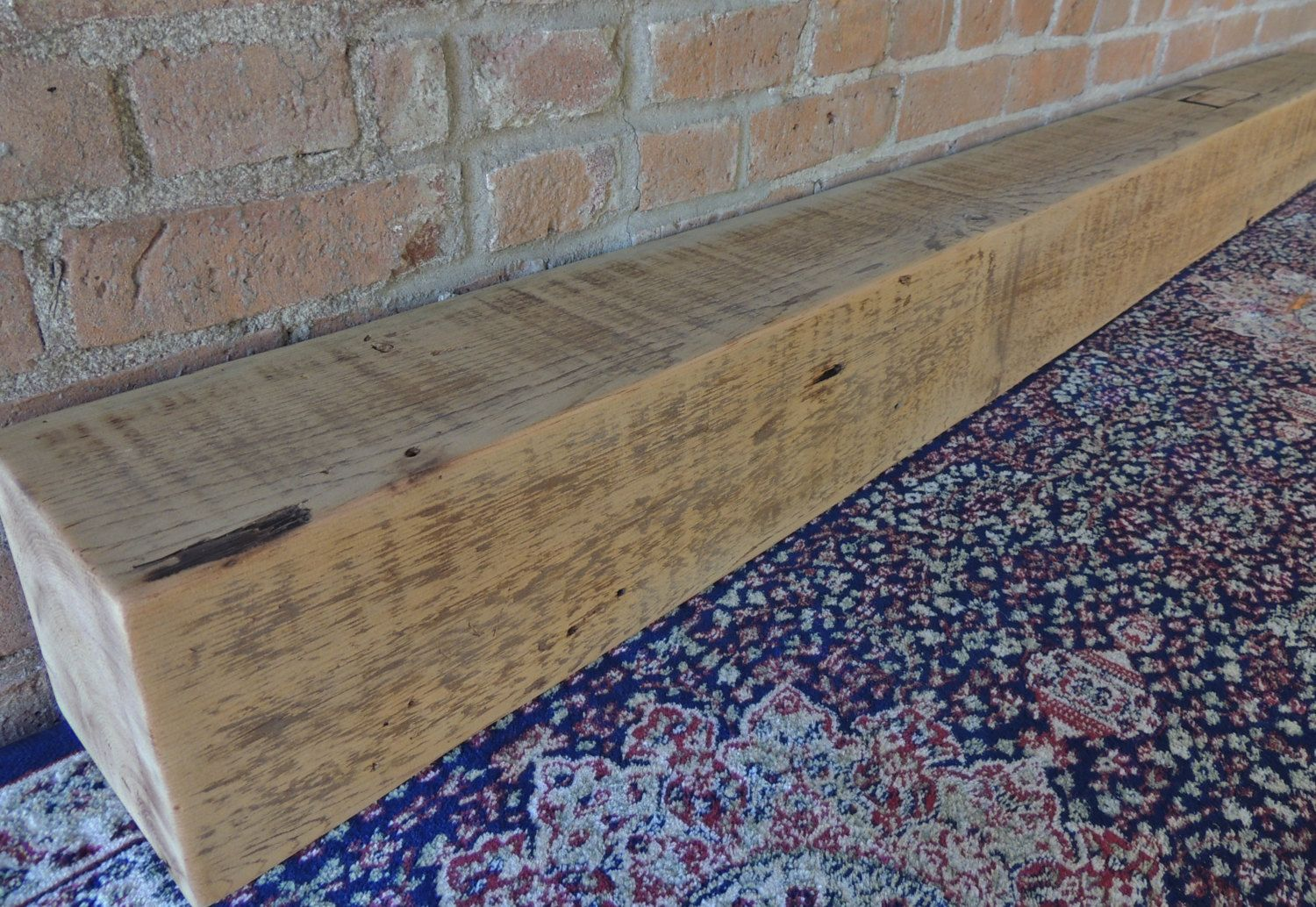 reclaimed barn beam mantle 76
