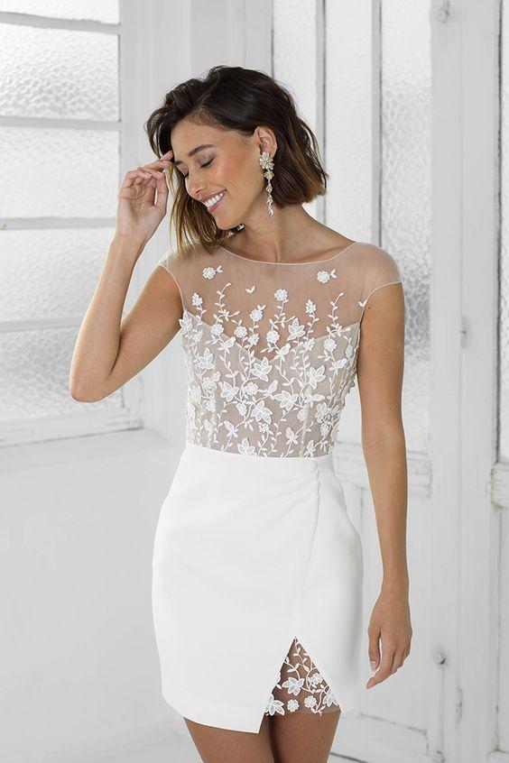 perfect white bridal party dress ML4936