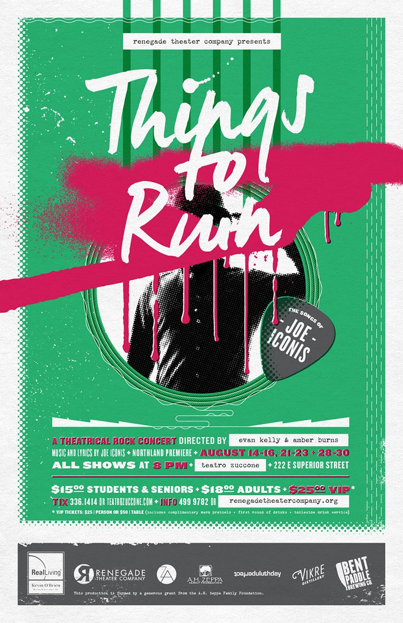 Things To Ruin Theater Poster Design For Renegade Theater Company