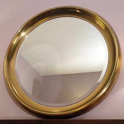 Vintage Mirror Mid Century Modern Mastercraft Furniture Brass