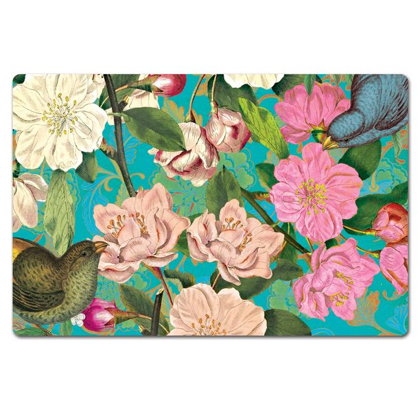 floral teal paper placemats design inspiration on fab