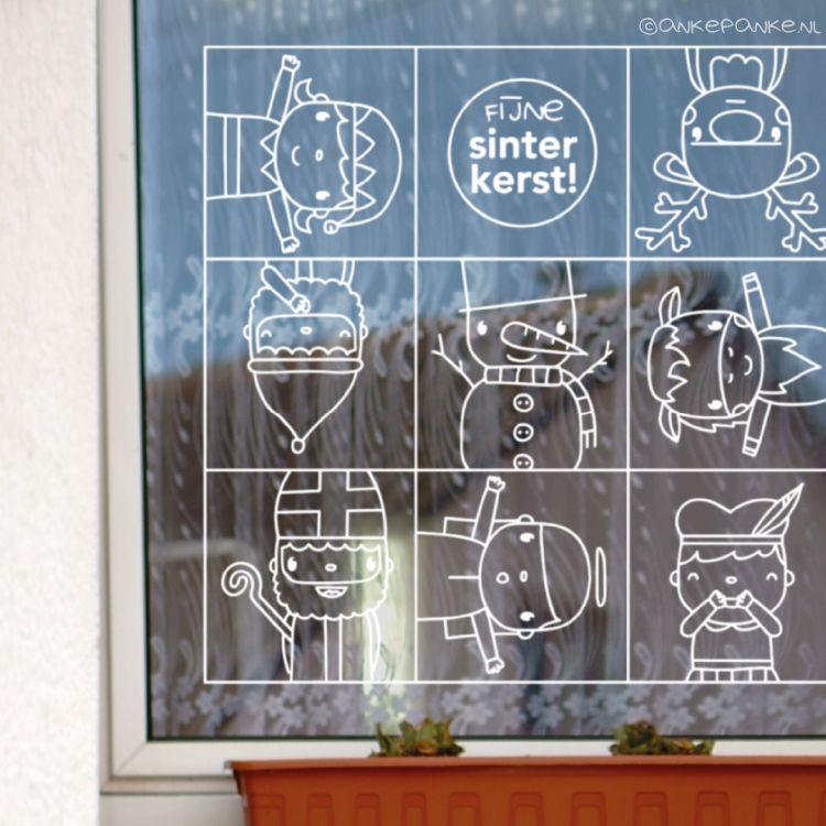 Bedwelming Met één raamdecoratie zit je de hele december goed! Sinterklaas + UM56
