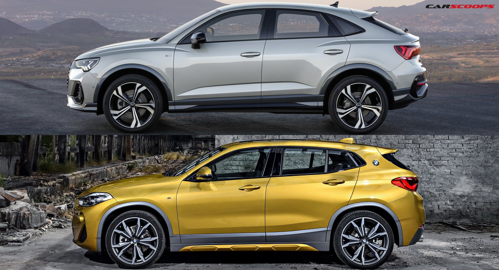 Audi Q3 Sportback Or Bmw X2 We Compare Them You Tell Us Which One You D Go For Carscoops Audi Q3 Audi Bmw