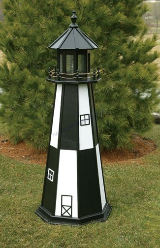 Cape Henry Electric Painted Wooden Lighthouse