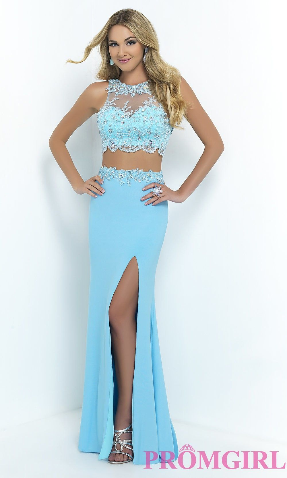 Two piece prom dress by blush from