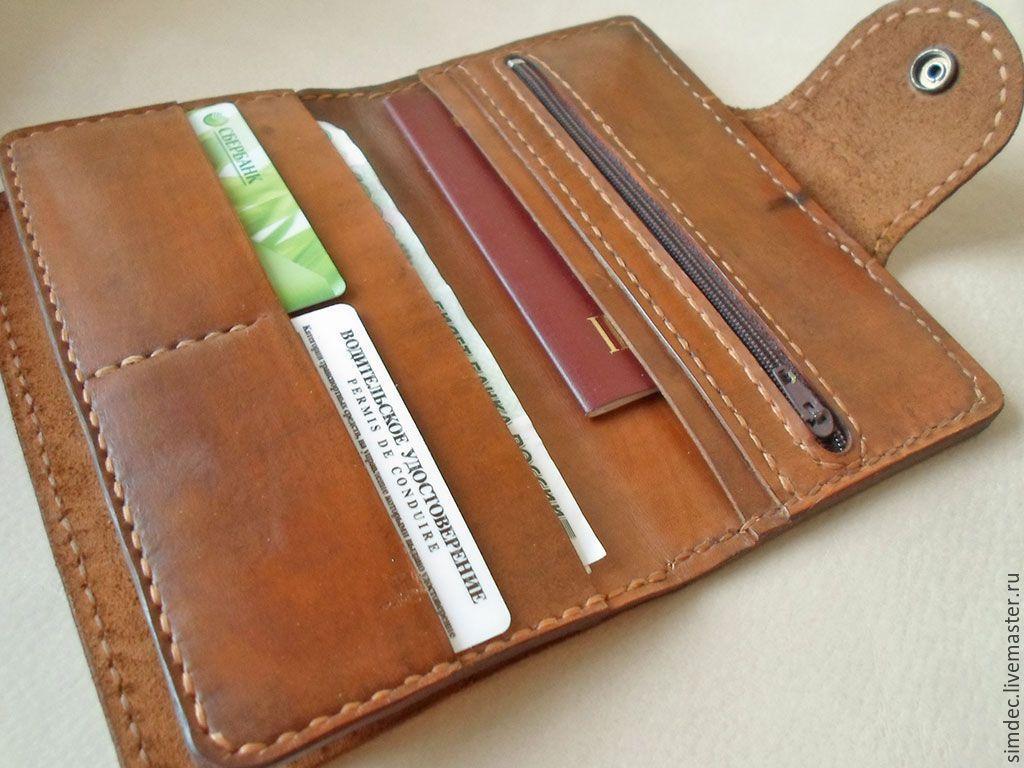 3778a6fd3c3d коричневый, мужской кошелек из кожи, натуральная кожа, ручная работа,  органайзер