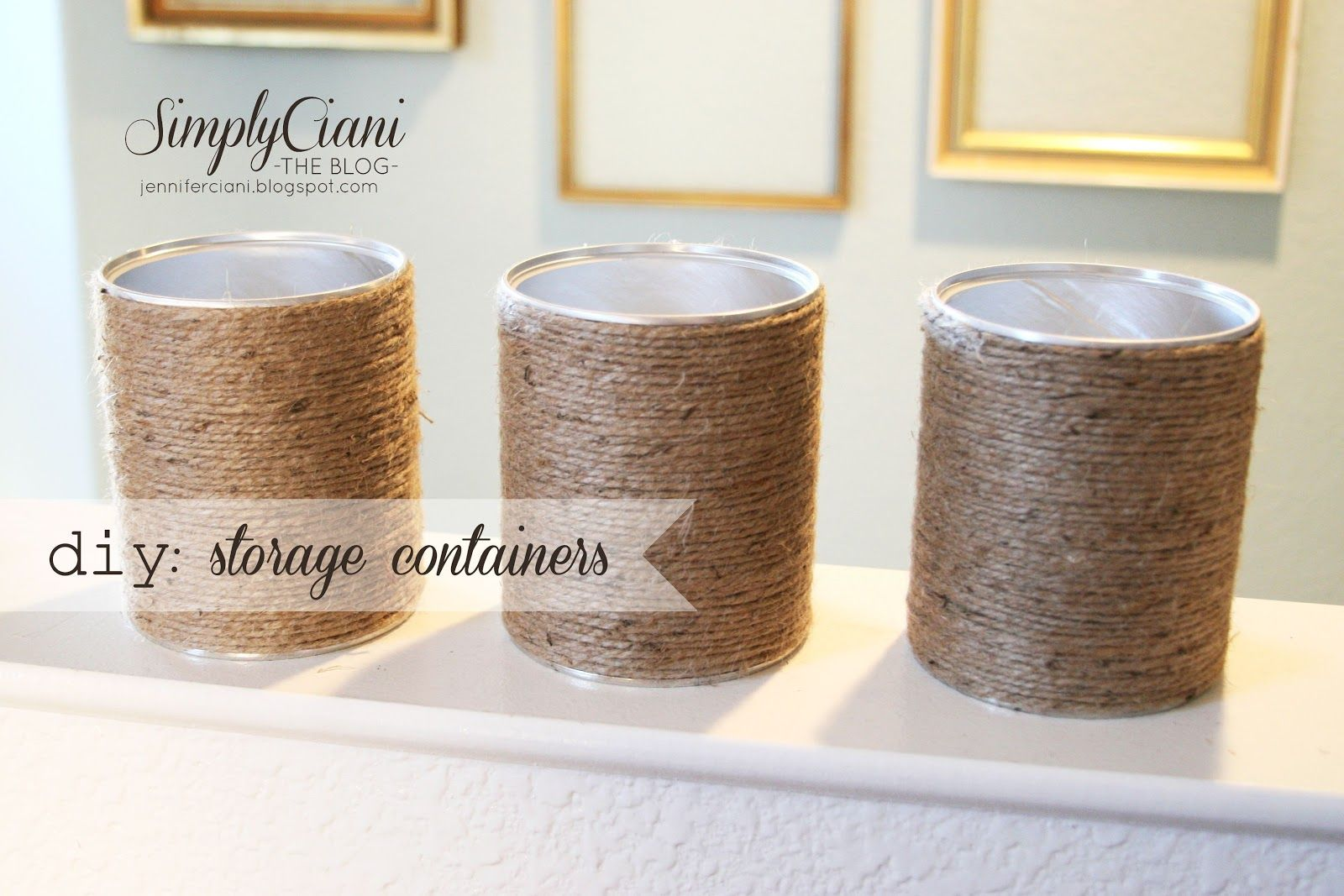 diy office storage ideas. Simply Ciani: DIY Office Organization With Baby Formula Cans, Covered In Jute Rope Diy Storage Ideas