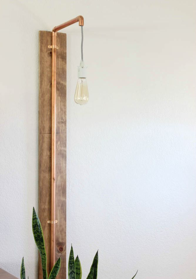 Copper Wall Sconce Diy Sconces Copper Wall Sconce Industrial Decor Living Room