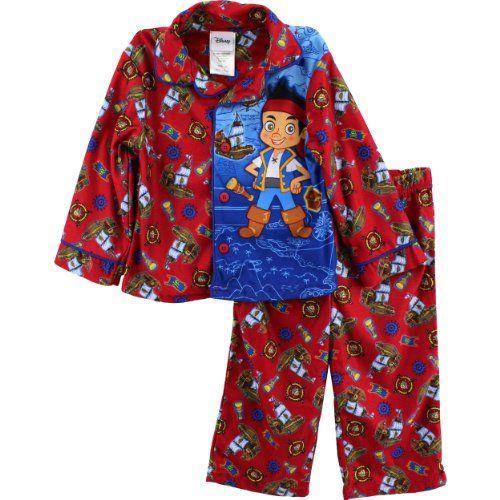 AME Sleepwear Boys Jake and The Neverland Pirates with Skully Toddler Pajamas