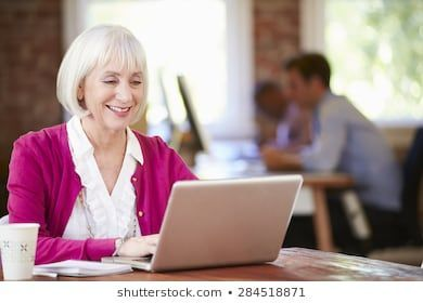 Senior Woman Working Laptop Contemporary Office Stock Photo Edit Now 284518871  Senior Woman Working Laptop Contemporary Office Stock Photo Edit Now 284518871
