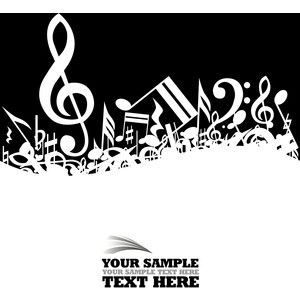 music clipart free music clipart 10 eps files with various rh pinterest com free musical clipart borders free musical clipart borders