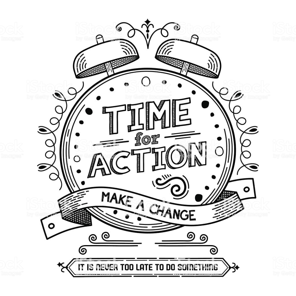Time for Action Royaltyfree Plan Document stock