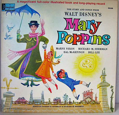 Mary Poppins 1964 Disney Record Album Songbook Childhood Mary