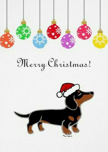 Christmas Dachshund Christmas Christmas Dog Dachshund Art