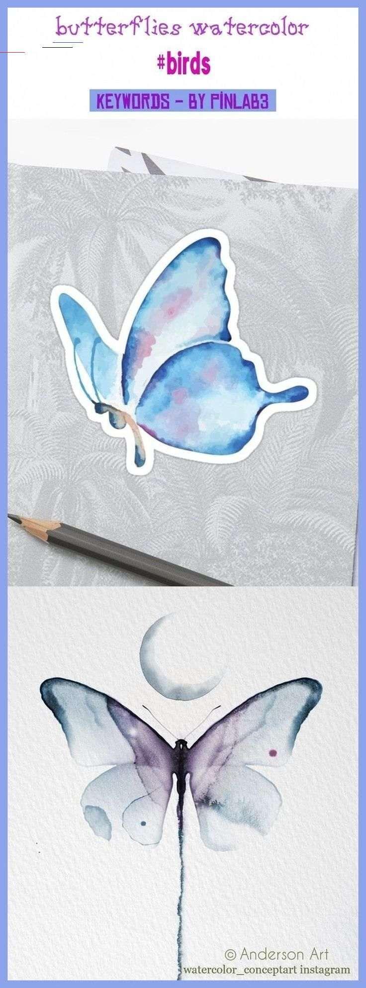Photo of Tatouage papillon aquarelle _ Tatouage papillon