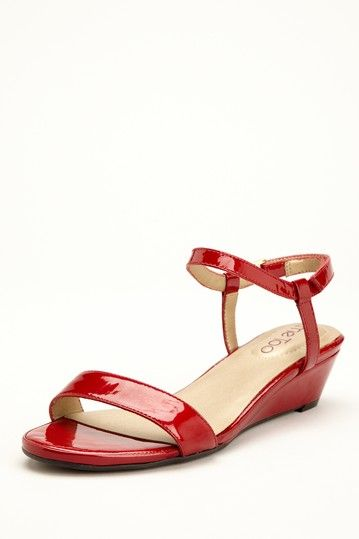 Me Too Sapphire Wedge Sandal - Red Patent
