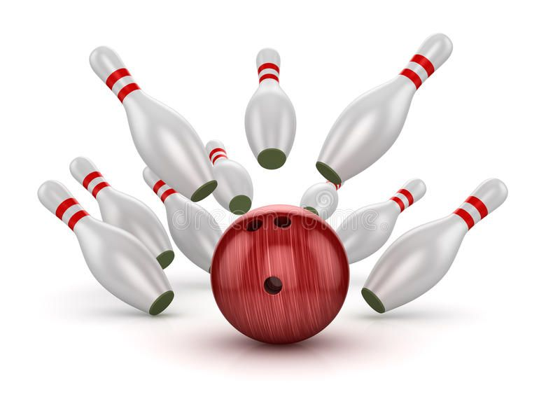 Bowling Ball Crashing Into The Pins This Is A Computer Generated And 3d Rendered Picture Stock Illustration Bowling Pictures Bowling Stock Illustration