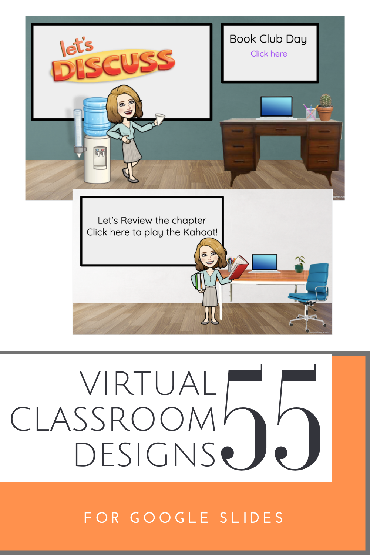 55 Bitmoji virtual classrooms for google slides