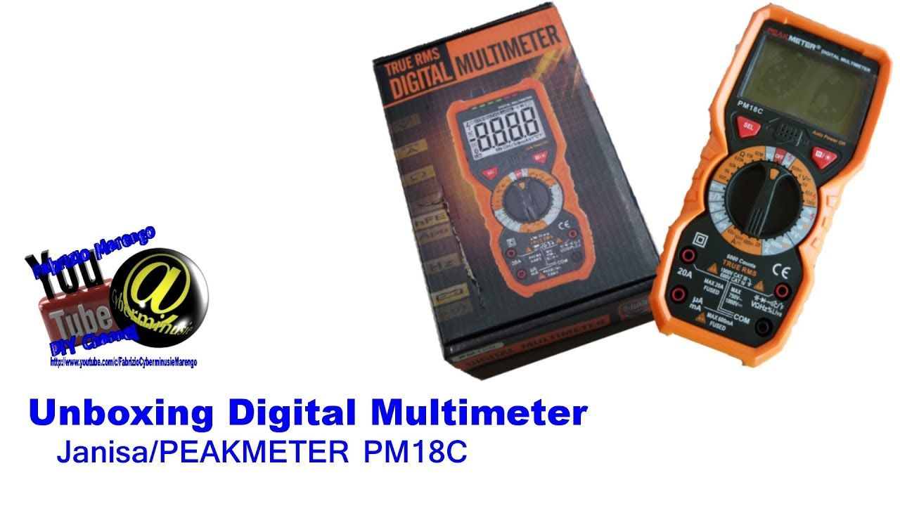 Unboxing multimetro janisa peakmeter pm18c unpacking for Levigatrice a penna multifunzione parkside