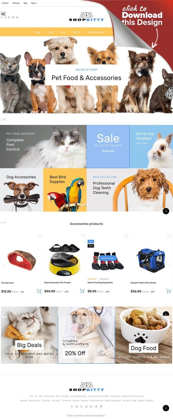 Shopkitty Prestashop Theme Prestashop Themes Cool Pet Names