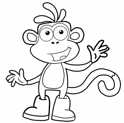 Art Video For Children Learn With Fun Drawing Painting And Crafting Lessons74882756906361 Monkey Coloring Pages Dora Drawing Dora Coloring