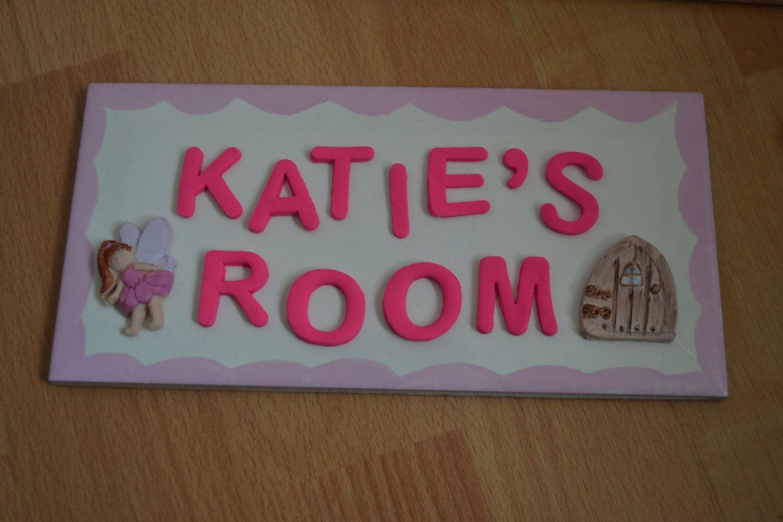 Bedroom door name plaque, door plaque, name plaque ...
