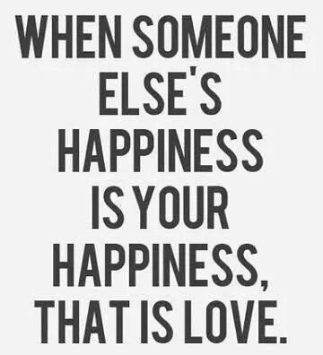 When someone else's happiness is...