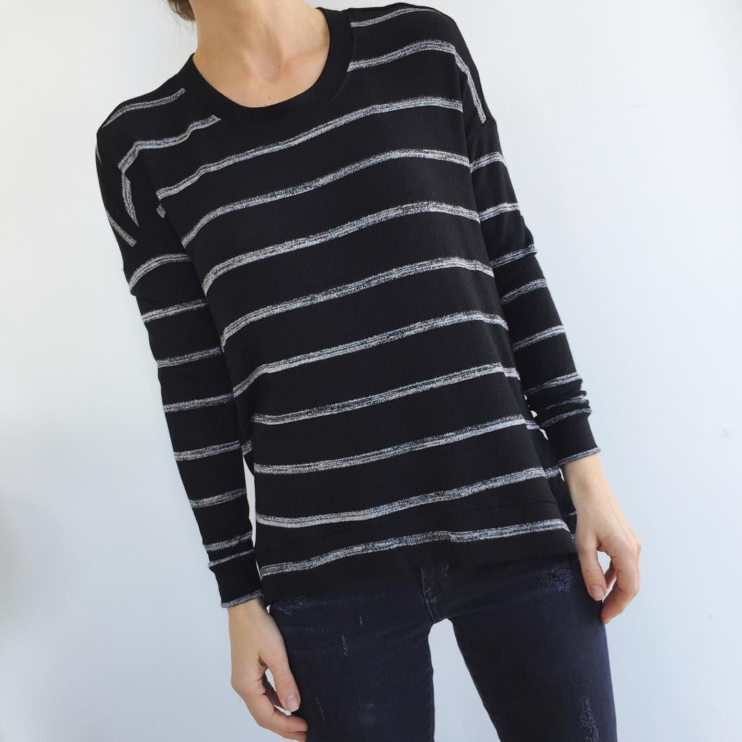 Tees me stripe long sleeve tee ootd lotd fashion style