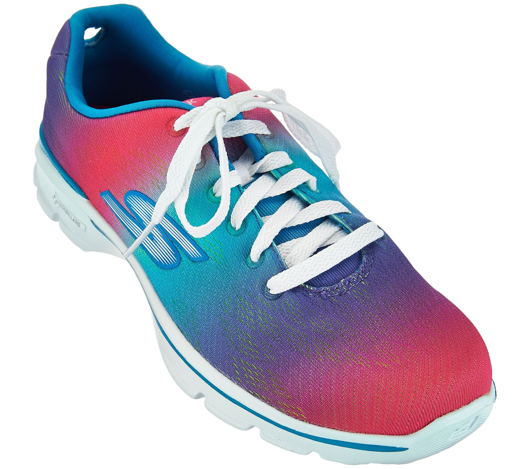 Skechers Go Walk 3 Lace Up Sneakers Pulse Qvc Com Sneakers