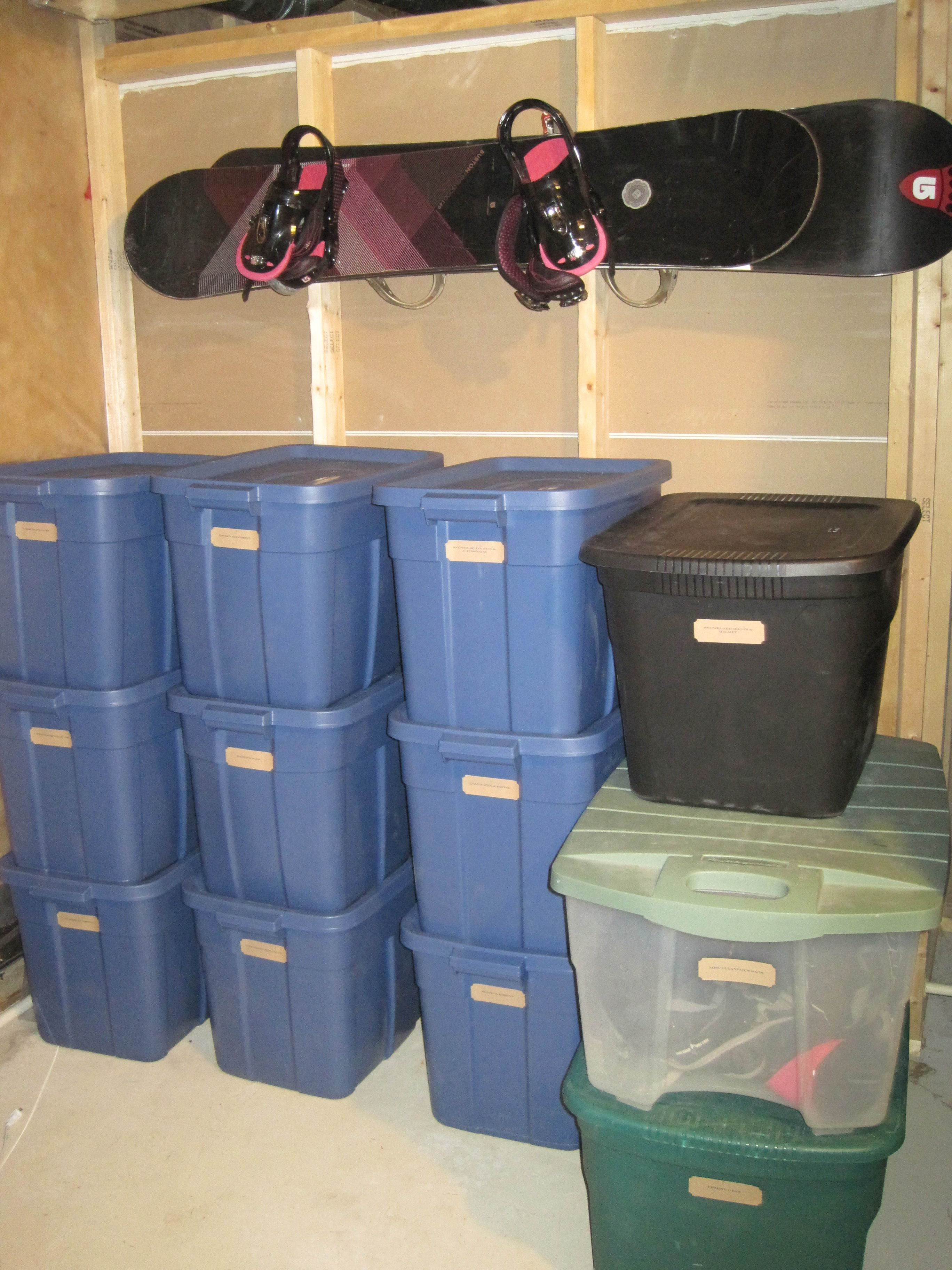 My furnace room project for Christmas Vacation Used Rubbermaid