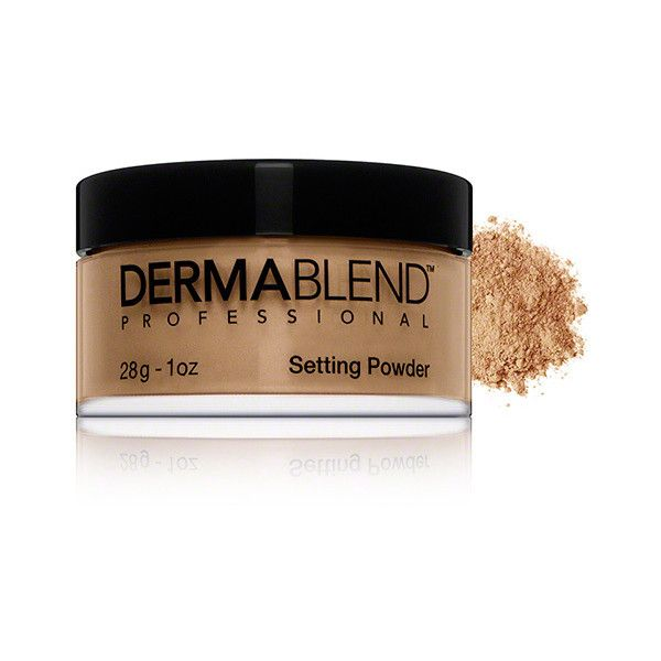 Dermablend Dermablend Loose Setting Powder - Warm Saffron ($26) ❤ liked on Polyvore featuring beauty products, makeup, face makeup, face powder, loose face powder and dermablend