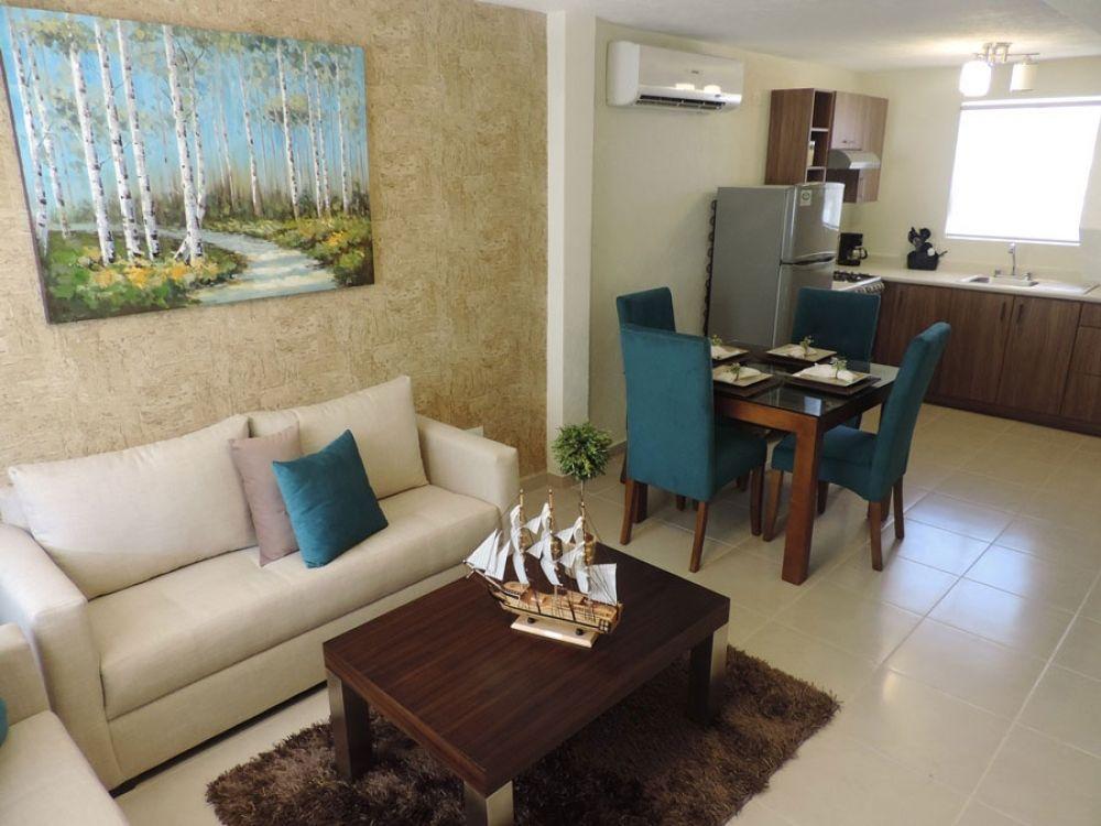 Casas Infonavit Interiores : Exterior living room casas casas pequeñas y