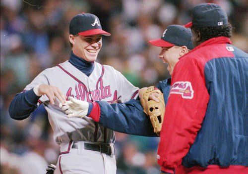 Chipper Jones 1995 World Series Chipper Jones Joined The Braves Full Time In 1995 Postponed A Year Chipper Jones 1995 World Series Braves