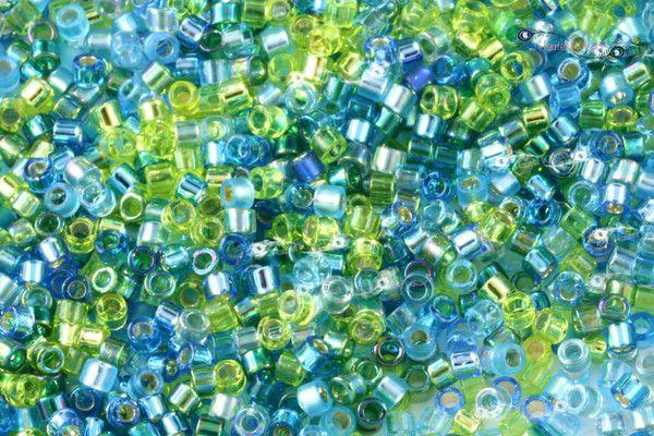 Miyuki 11/0 Delica Seed Beads Mix - Electric Blue Lagoon [ DBMIX-21]