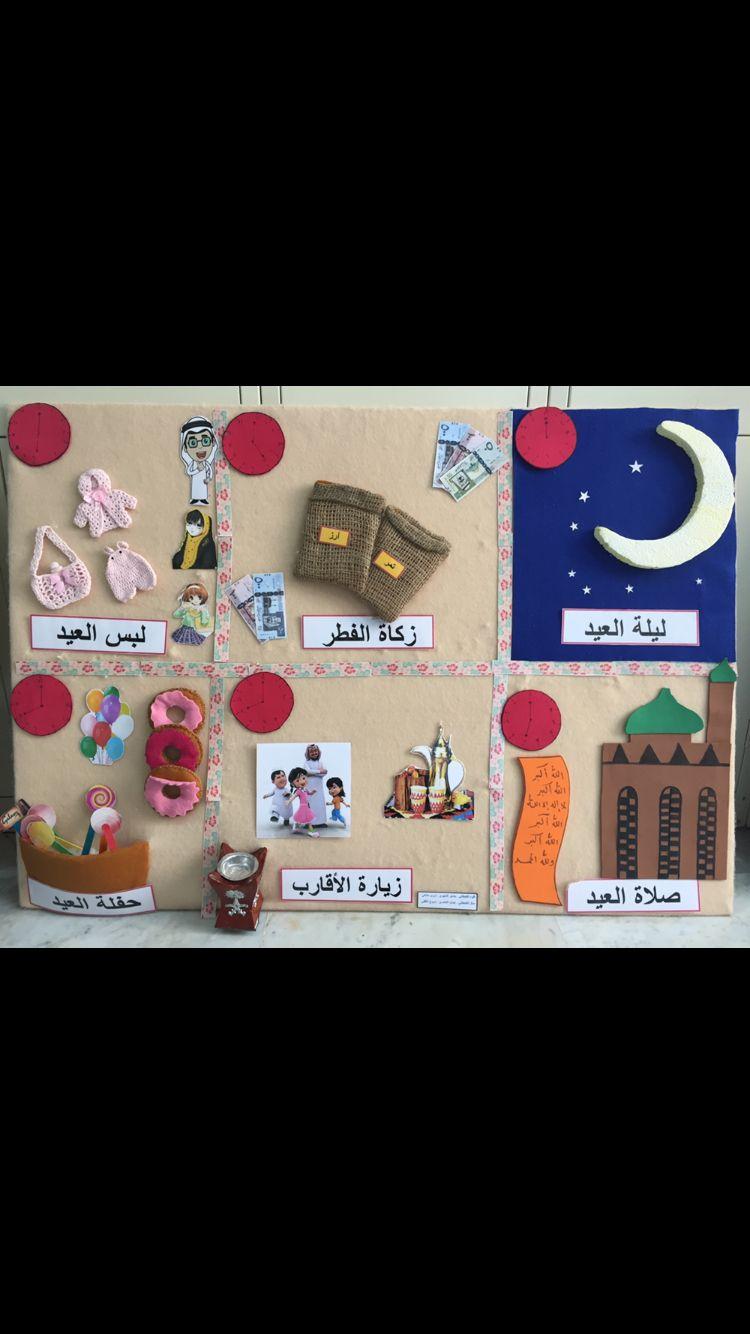 لوحة الإعلان وحدة حفلتي مادة وسائل تعليمية Islamic Kids Activities Islam For Kids Muslim Kids Activities