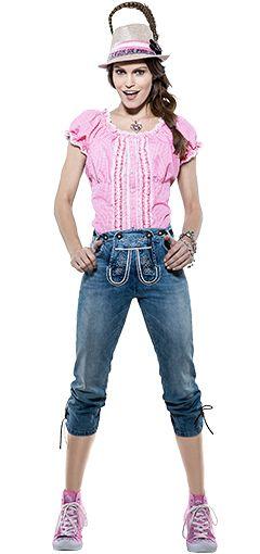 wiesen qutfit damen jeans und bluse