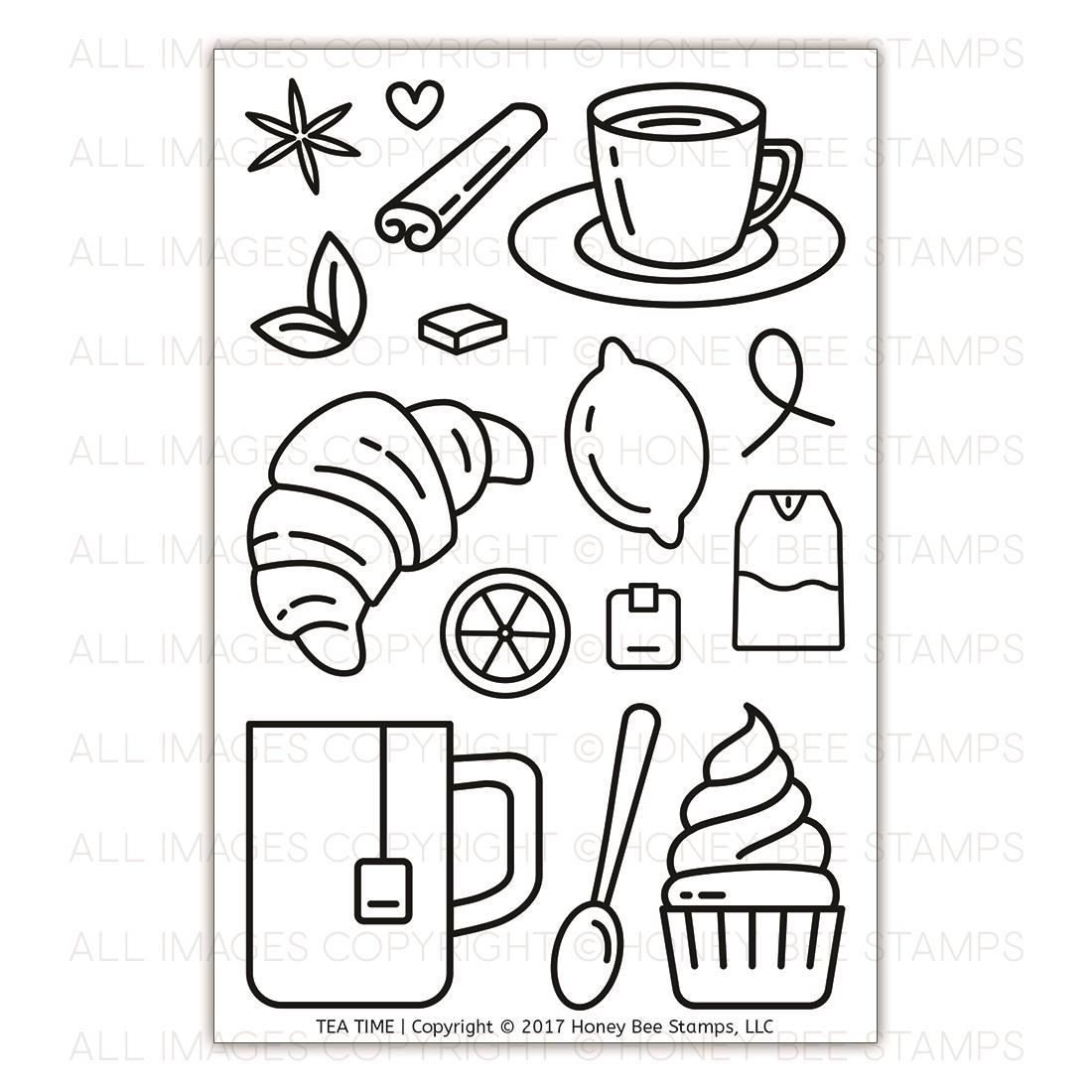 Ellen Hutson LLC - Honey Bee Clear Stamps, Tea Time, $15.00 (https ...