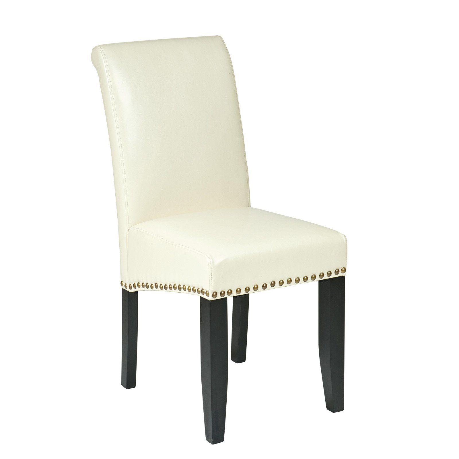 Osp Designs Metro Parsons Nailhead Dining Chair Cream In