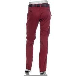 Alberto Herren Chino Hose Lou, Regular Slim Fit, Pima Cotton, barolo rot Alberto