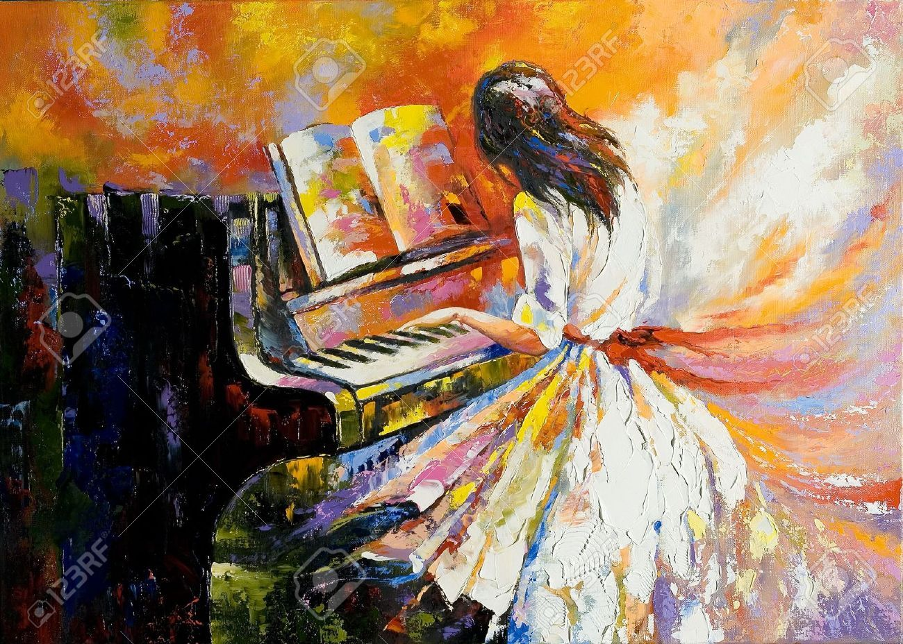 piano painting - Google Search | Orange Green Room ...