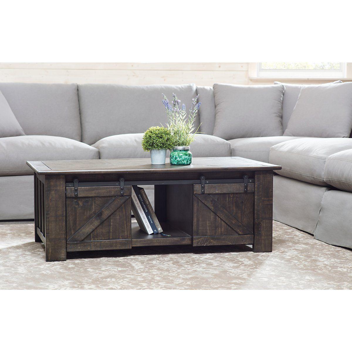 City Furniture Garrett Dark Tone Castored Lift Coffee Table