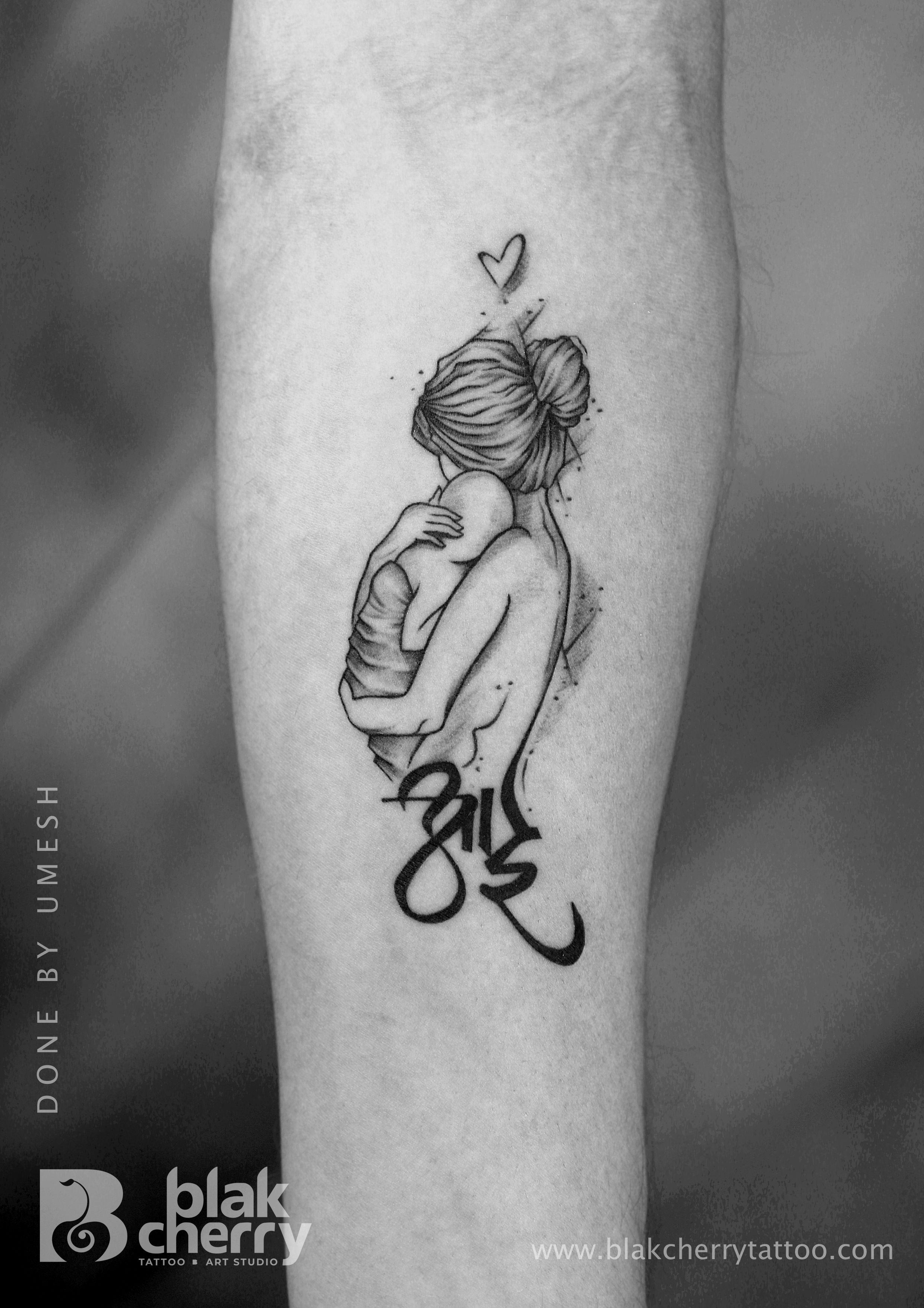 ed16425a5 Mother tattoo . #aai tattoo.#feelings.#daughter #blakcherry tattoo studio  #ahmednagar