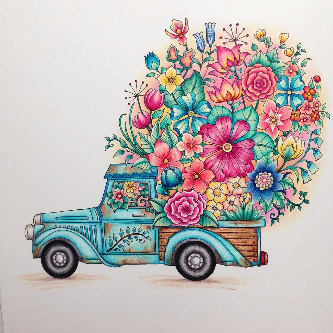 johanna basford world of flowers coloring book